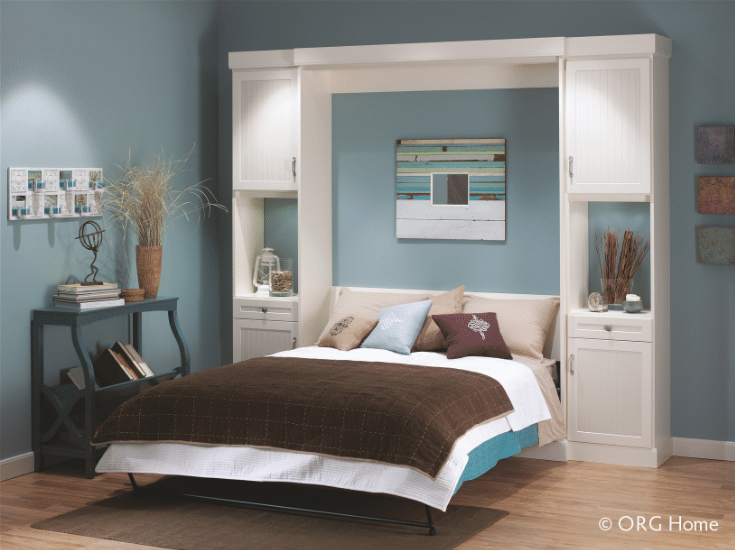 Guest bedroom murphy wall bed | Innovate Home Org | #MurphyBed #WallBed #SleeperSofa #GuestBedroom