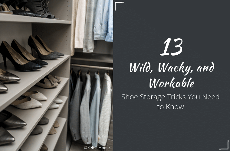 Shoe Storage Tips You Need to Know - Opening | Innovate Home Org | #ClosetSotrage #ShoeStorage #WalkInCloset