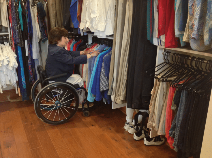 Wall hung walk in closet for wheelchair columbus ohio | Innovate Home Org | #WallHung #ClosetStorage #WheelchairCloset #ClosetDesign