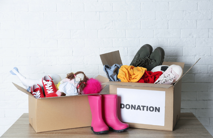 Shoe donations for an organized closet Columbus | Innovate Home Org | #ShoeDonations  #ShoeStorage #OrganizedCloset