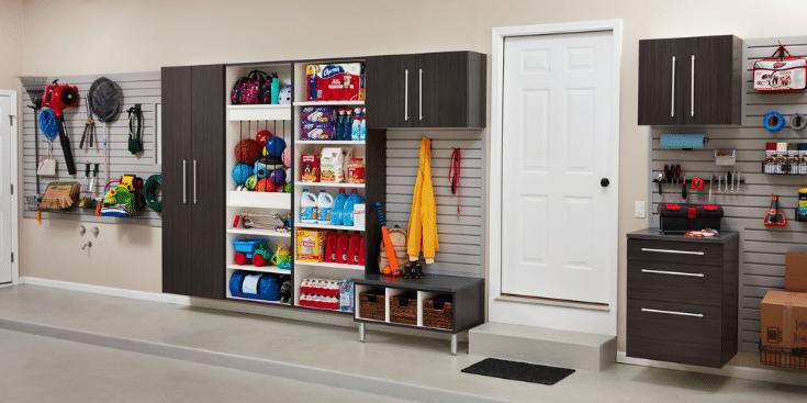 A ball storage system in a garage cabinet in Hilliard Ohio   Innovate building Solutions   Innovate Home Org   #GarageStorage #BallStorage #OrganixationSystem