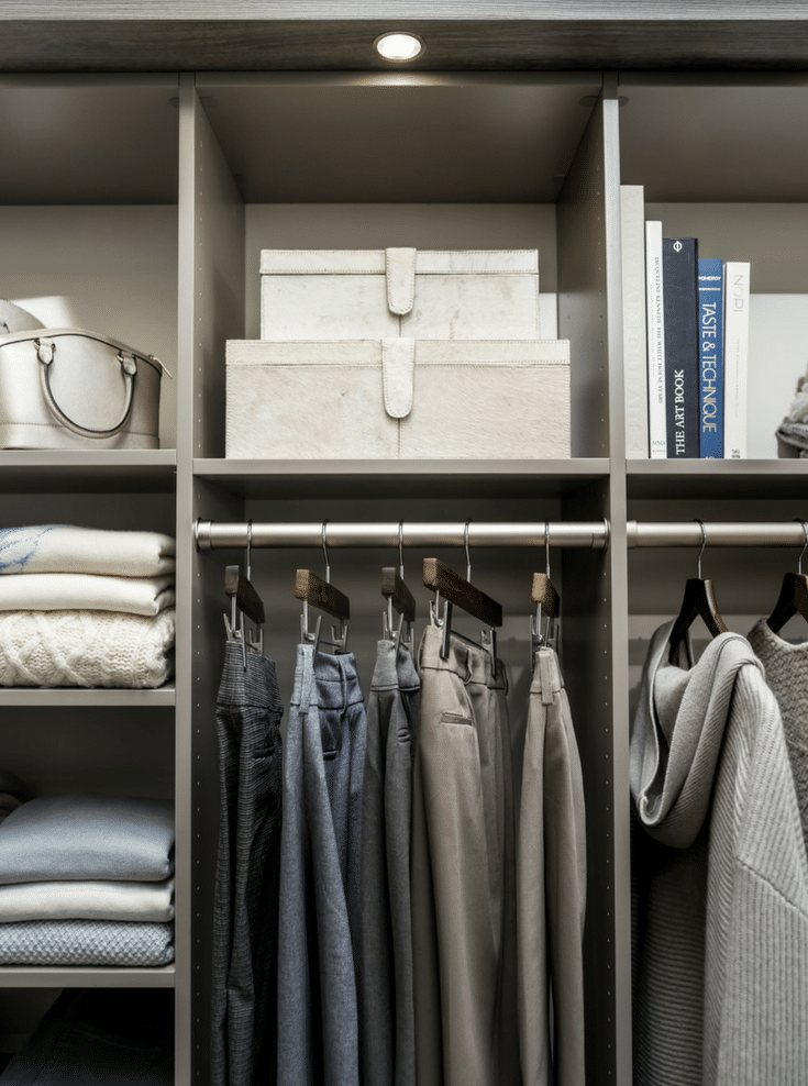 Closet organization with uniform hangers | Innovate Home Org | Dublin, Ohio | #ClosetOrganization #CustomCloset #HangingStorage #StorageTips