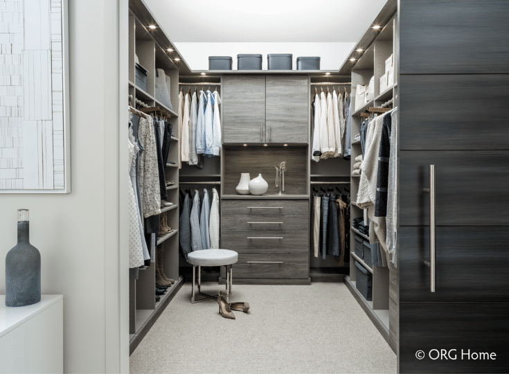 His and hers closet design columbus | Innovate Home Org | #ClosetDesign #Hisandhercloset #Customcloset #OrganizationTips