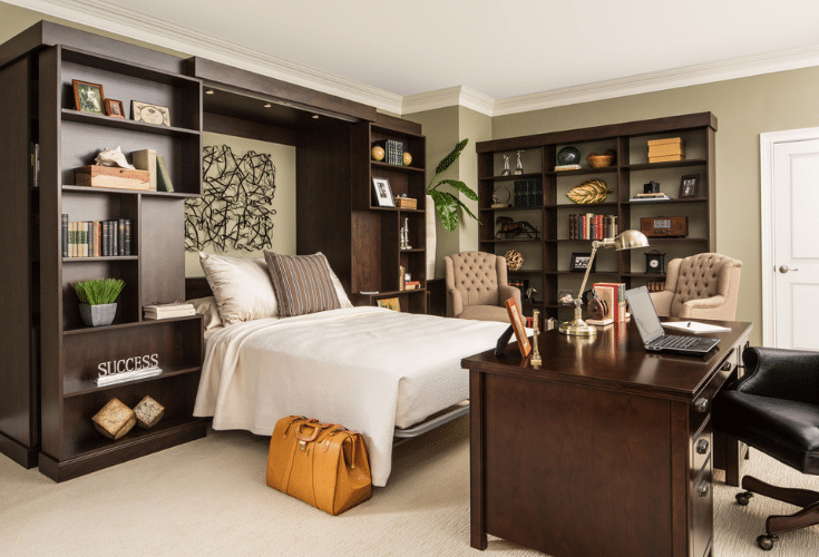 Allow enough space around a murphy bed | Innovate Home Org | Innovate Building Solutions | Columbus, Ohio | #StorageSpace #OrganizationStorage #WallBed #MurphyBed