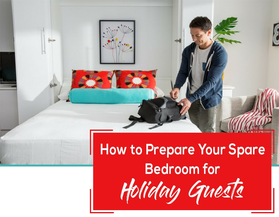 Opening - how to prepare your spare bedroom for holiday guests | Innovate Home Org | #Sparebedroom #HolidayGuests #MultiPurposeBedroom #GuestBedroom