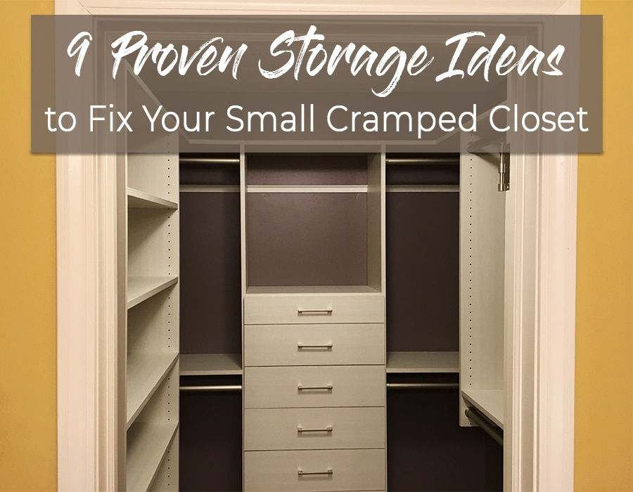 9 proven storage ideas to fix your small cramped closet | Innovate Building Solutions | Innovate Home Org | Columbus, OH | #CrampedCloset #SmallCloset #StorageProblems