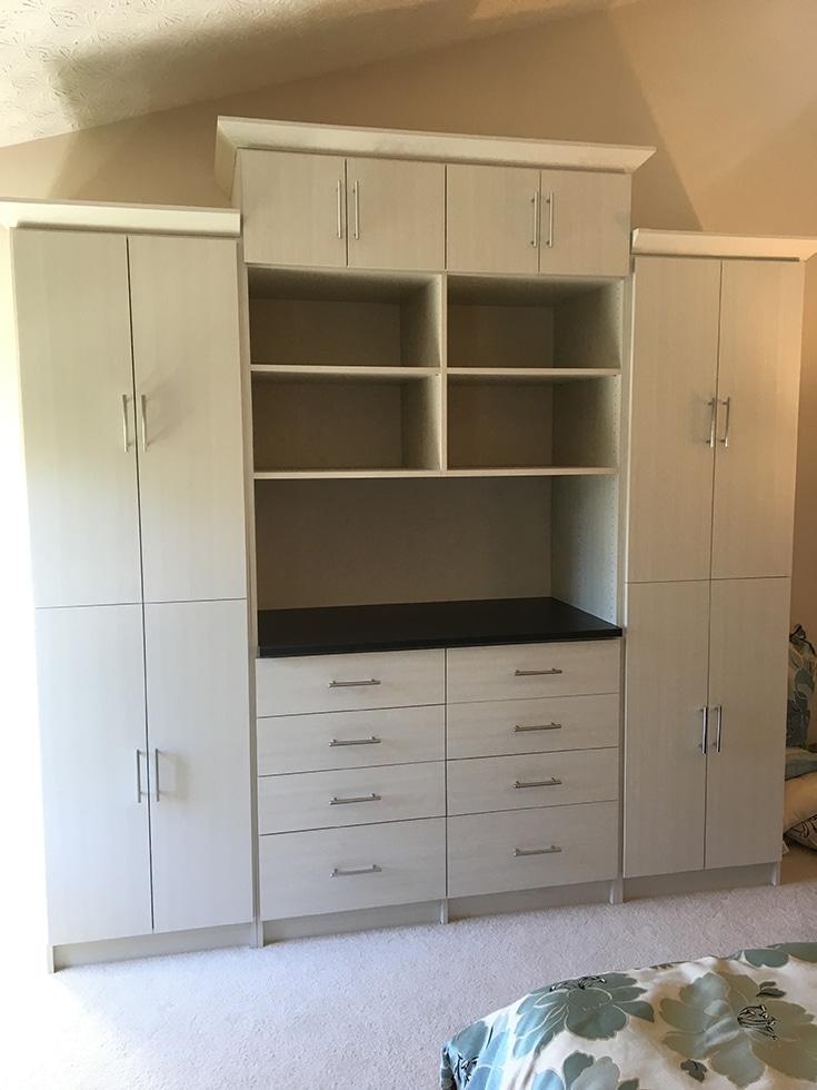 A wardrobe closet in a westerville columbus ohio | Innovate Home Org | Innovate Building Solutions | #WardrobeCloset #CustomClosets #ColumbusClosets #WardrobeCloset