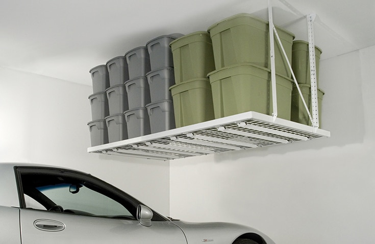 Garage-storage-1-4-foot-x-8-foot-overhead-ceiling-storage-Columbus | Innovate Home Org | Columbus Garage  | #Garage #Storage #CeilingStorage #OverheadStorage