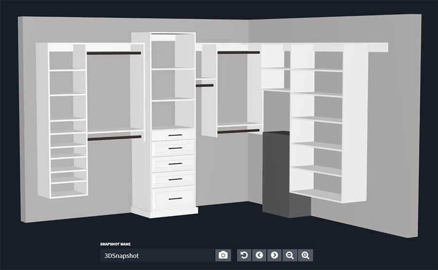 Closet design walk in closet new albany suburb columbus ohio | Innovate Home Org | #CustomClosets #WalkInCloset #StorageSystem