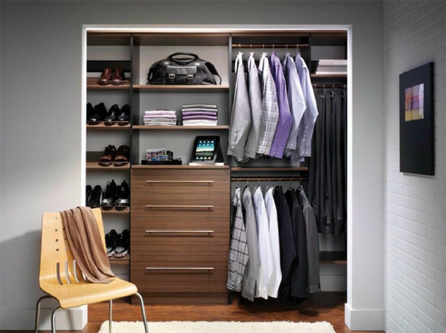 FAQ 4 Idea 1 double hanging closet in a reach in design Columbus | Innovate Home Org | Reach In Closet #ReachInCloset #SmallClaset #OrganizationSystem