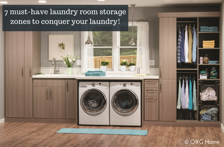 7 laundry room storage zones easier laundry day | Innovate Home Org | #LaundryRoom #StorageSolutions #LaundryOrganizer