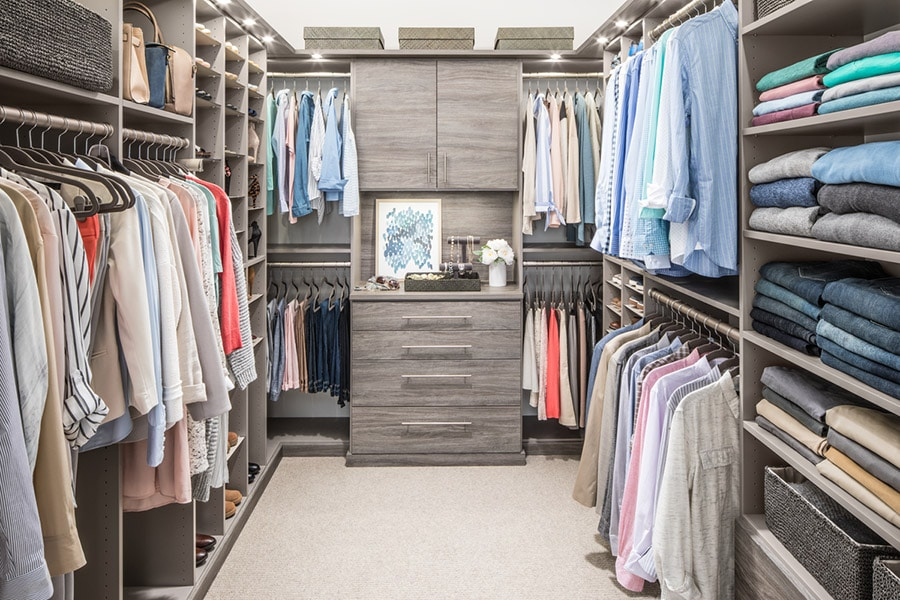 consider depth between sections for a custom closet design worthington ohio | Innovate Home Org | #WalkInCloset #ClosetSystem #ColumbusCloset