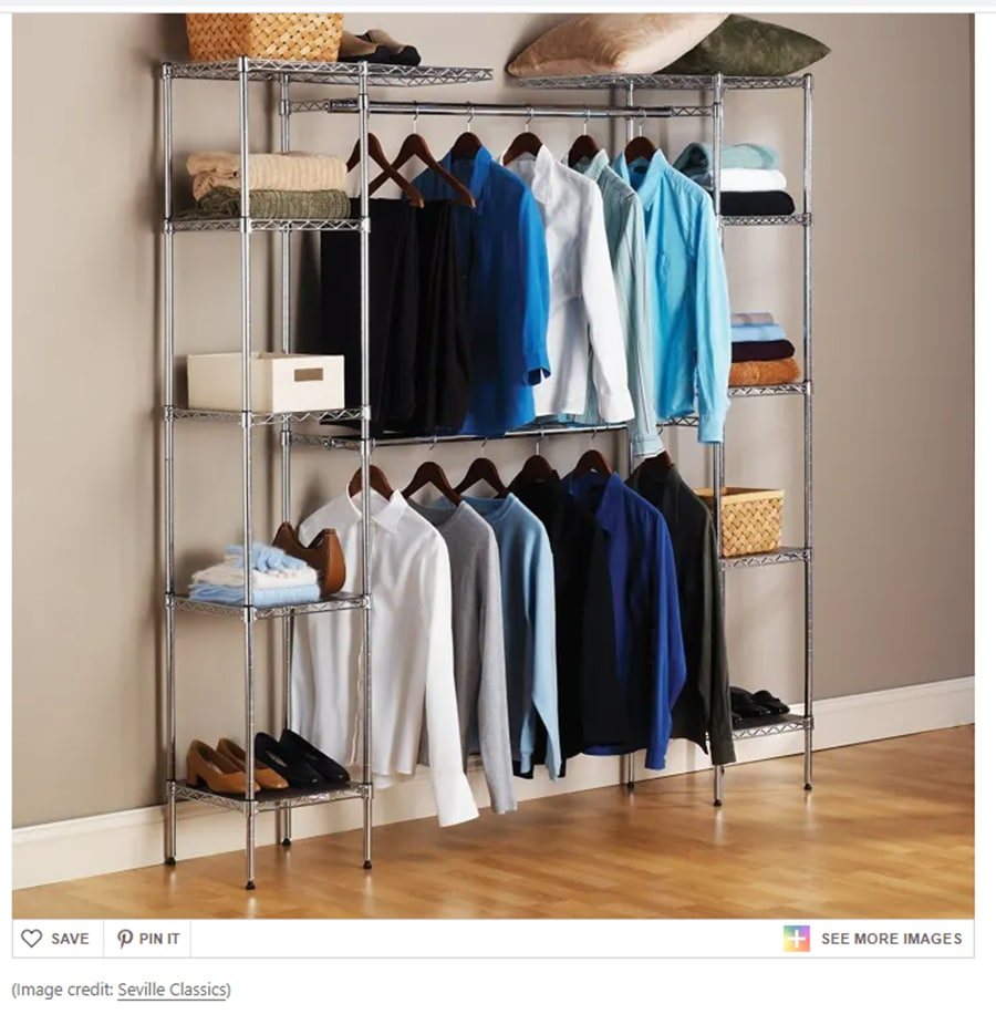 you should DIY a closet system for a renter you can take with you | Innovate Home Org | Columbus, OH | Dublin, OH | #CustomStorage #ClosetOrganization #OrganizationSystems