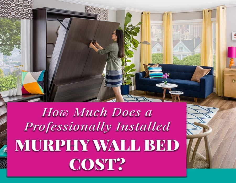 Opening Image How much an installed muprhy bed cost | Innovate Home Org | #MurphyBed #CustomStorage #WallBed