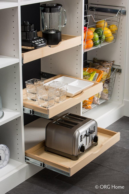 Scoop pantry shelves columbus | Innovate Home Org | Custom Pantry | Scoop Drawers | #PantrySystem #OrganizationSystem #PantryStorage