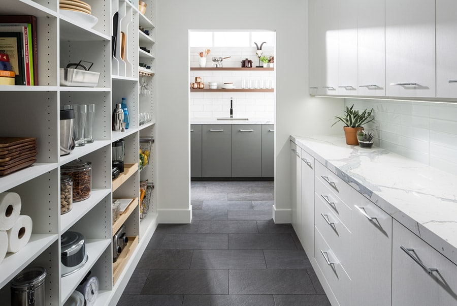 increment holes for adjustable kitchen pantry shelving in Dublin ohio | Innovate Home Org | Pantry Storage | #Organizers #StorageSolutions #Organization