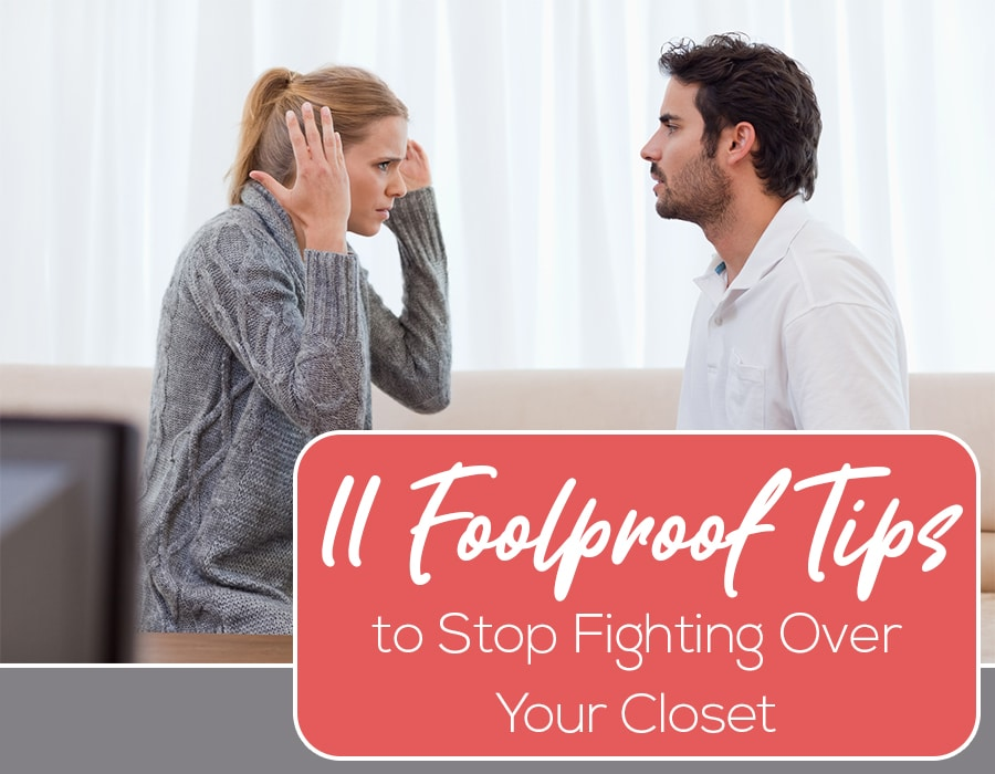 Opening 11 tips stop fighting over closet space | Innovate Home Org | #HomeOrganization #ClosetStorage #CustomStorage
