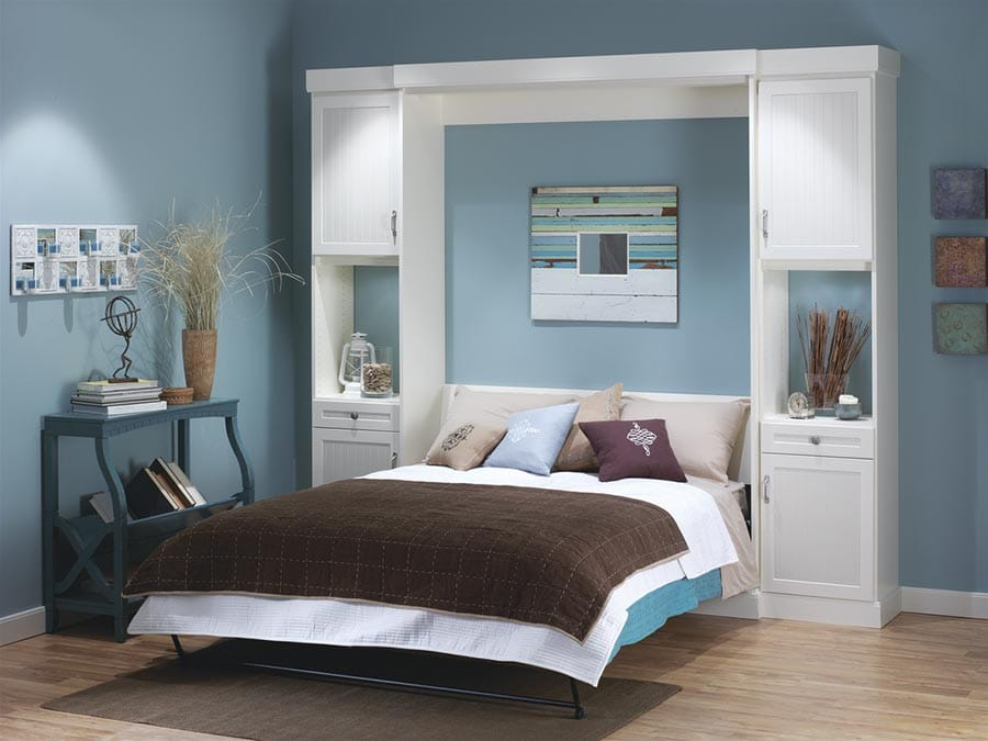 Queen sized murphy bed columbus ohio | Innovate Home Org | #WallBed #MurphyBed #QueenBed #DeskBed