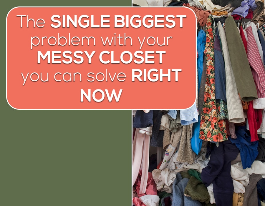 Opening Single biggest messy closet problem hanging clothes | Innovate Building Solutions | Innovate Home Org | #MessyCloset #ClosetMakeover #CustomCloset #HangingClothes #ClosetMistakes