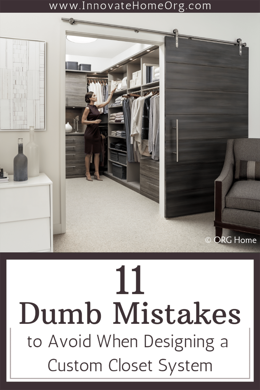 Problem 1 design - 11 Dumb Mistakes to Avoid Designing a Custom Closet System | Innovate Building Solutions | Innovate Home Org | #ClosetMistakes #DesigningCloset #ClosetSystem