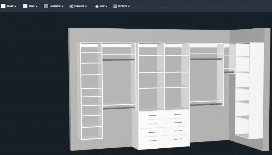 3D custom closet design clintonville ohio | Innovate Home Org | #Designs #CustomDesign #StorageOptions