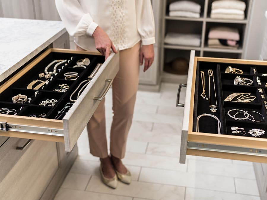 Reason 10 jewelry drawer in a custom closet bexley columbus ohio | Innovate Home Org | #Drawers #CustomCloset #OrganizationSystems