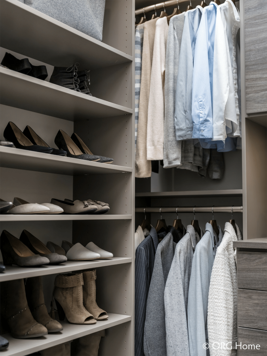 double hang sections Columbus ohio custom closet | Innovate Home Org | #CustomCloset #StorageOptions #CustomStorage #ClosetOrganization