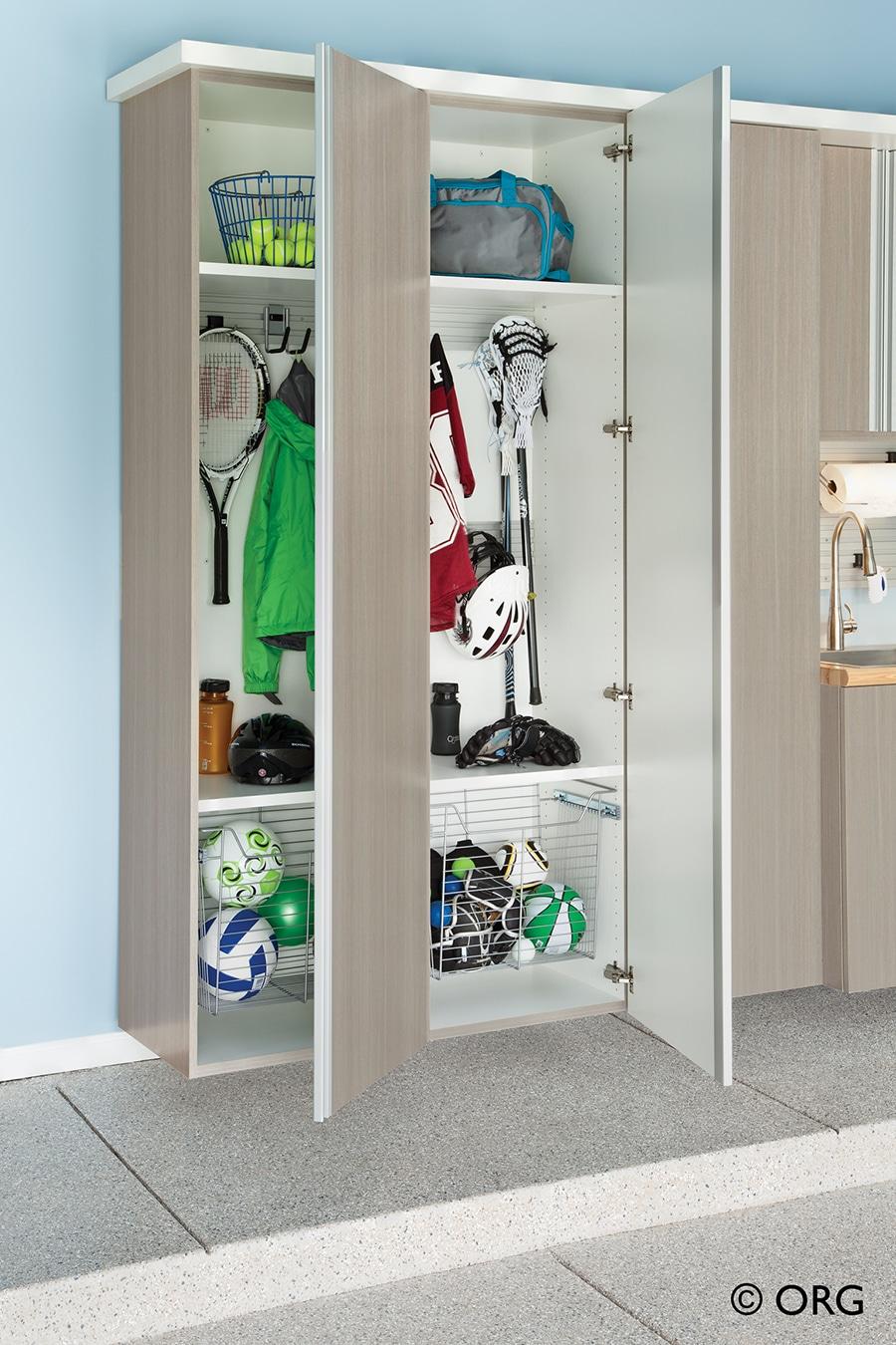 9 hang tools sporting equipment inside garage cabinets columbus ohio | Innovate Home Org | #Hangtools #garagecabinets #SportingEquipment