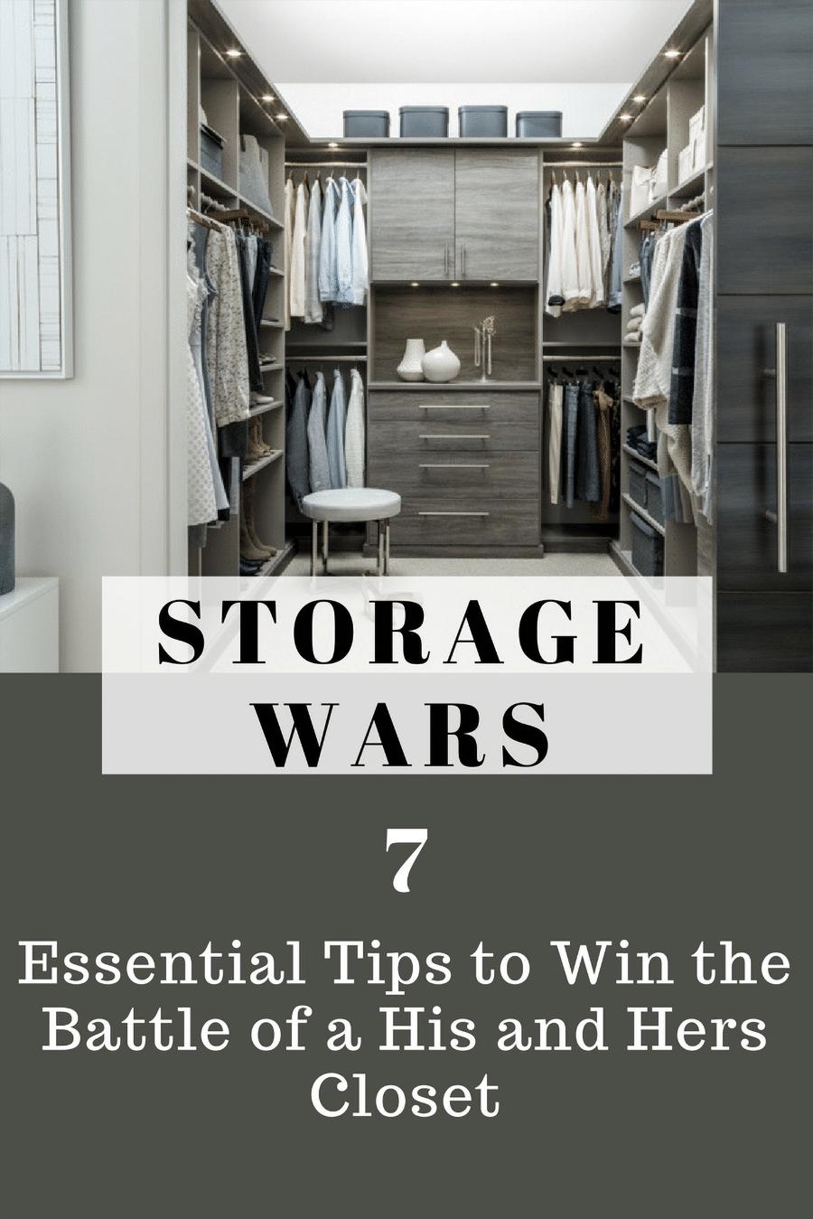 Step 9 His and hers closet design strategies Columbus Ohio | Innovate Home Org | #Storage #OrganizationStorage #StorageWars