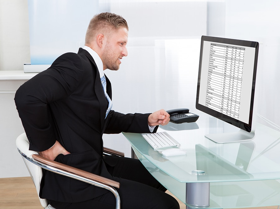 Factor 3 large monitors can take up a lot of work at home desktop space | Innovate Home Org | Innovate Building Solutions | #HomeOffice #WorkFromHome #DesktopSpace