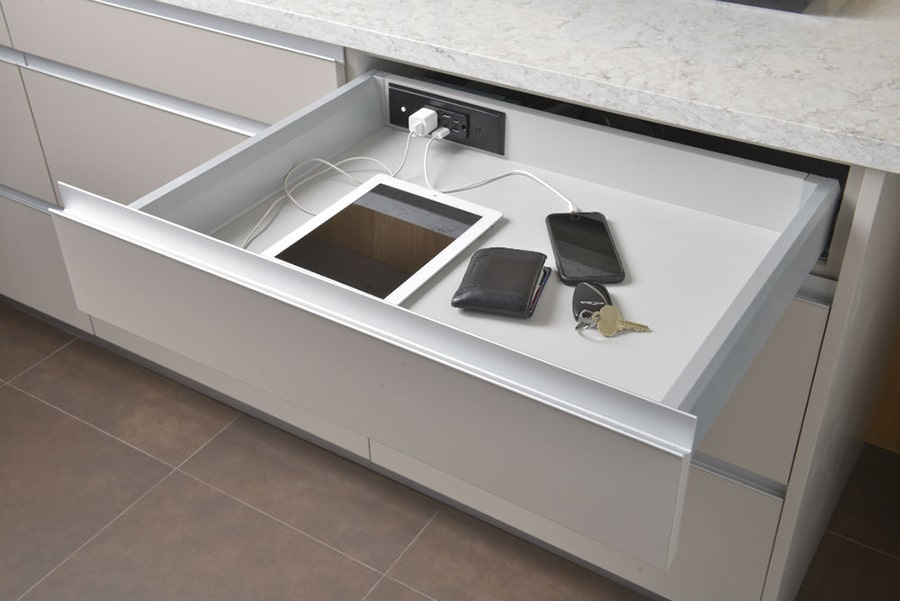 Secret 11 drawer charging Docking Drawer | Innovate Home Org | #Organization #Drawer #ChargingDrawer