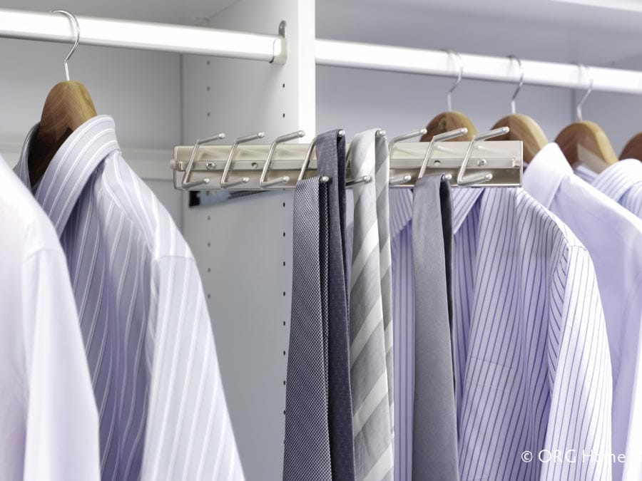 Idea 14 sliding tie rack Pataskala Ohio custom closet | Innovate Home Org | Columbus, OH | #Columbus #Closets #TieRack #CustomStorage #DIYRemodel