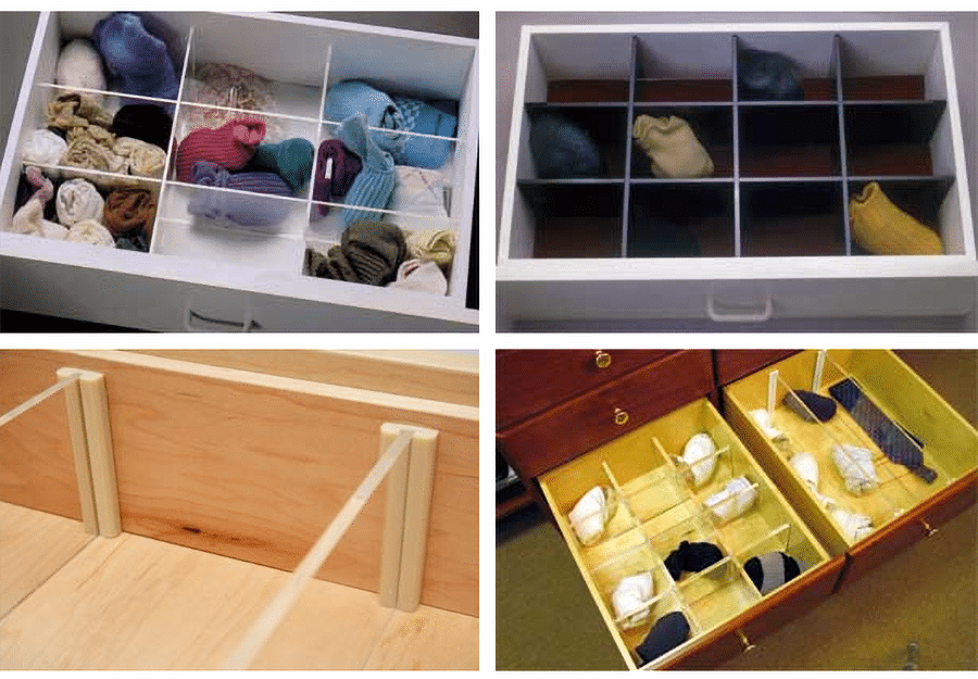 Idea 19 Clear acrylic drawer dividers image credit Clear Systems | Innovate Home Org | #Drawers #AcrylicDrawers #StorageDividers