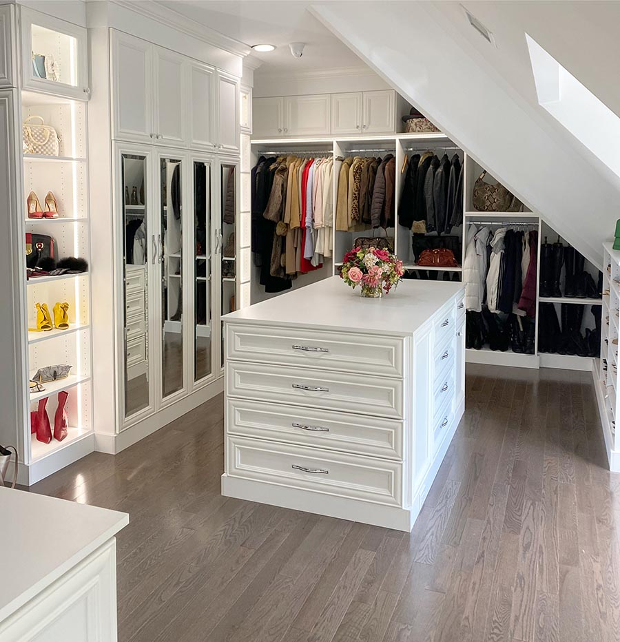 Idea 3 fun closet hardware in a custom closet credit Patty Miller Boutique Closets and Cabinetry | Innovate Home Org | Dublin, OH | #CustomCloset #Organize #StorageSolutions