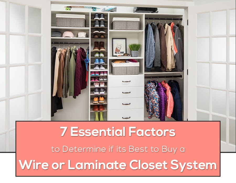 Opening image for a Laminate Closet System | Innovate Home Org | #ClosetOrg #LaminateShelving #WalkInCloset #ColumbusClosets