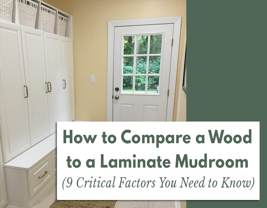 Opening - image how to compare wood to laminate mudroom Bexley Ohio | Innovate Home Org | Columbus, OH | #Mudroom #CustomOrganization #OrganizationSystems