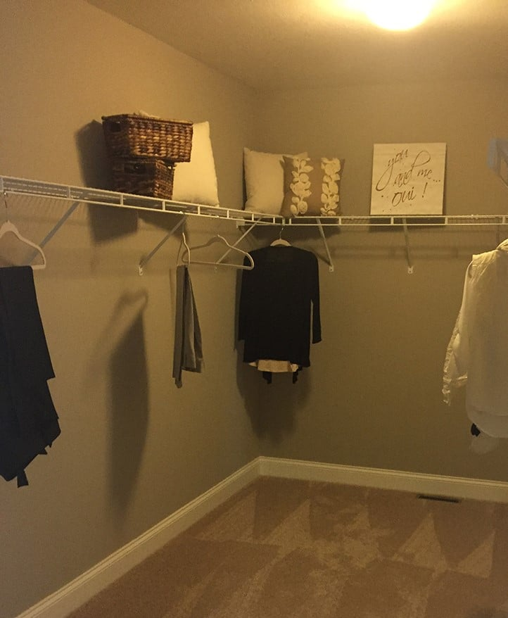 Opening image wire shelving in a new home | Innovate Home Org | Columbus, OH | #CustomShelving #WireShelving ClosetSystem #WireShelving