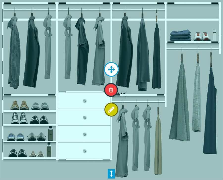 professionally installed laminate closet which costs less than a Elfa wire closet uninstalled | Innovate Home Org | Columbus, OH | #CustomStorage #ProfessionalCloset #FixedShelving