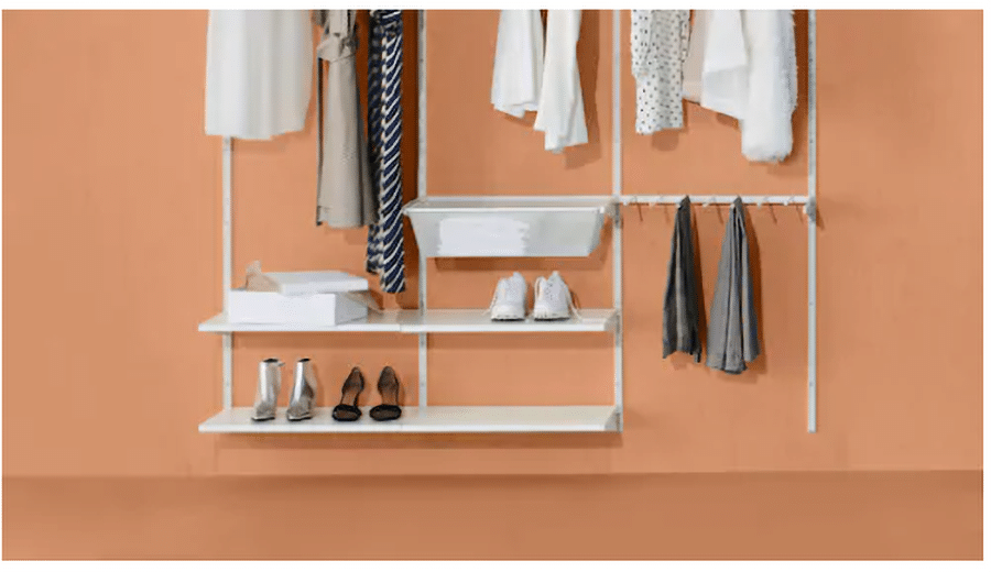 Factor 6 solution 1 IKEA boexel shelves without wire lines for clothes credit www.IKEA.com | Innovate Home Org | Dublin, OH | CustomCloset #ColumbusClosets #IkeaShelving #IkeaStorage