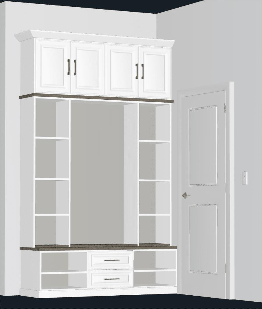 Factor 7 Free 3D custom mudroom design Columbus Galena ohio | Innovate Home Org | #Mudroom #CustomStorage #MudroomIdeas #DIYMudroom