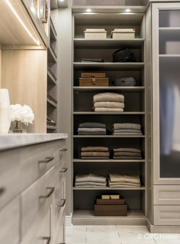 don't use 12 inch deep closet shelving use 14 inch deep | Innovate Home Org | Columbus, OH | Powell, OH | #customstorage #Organization #Shelving #DeepShelving