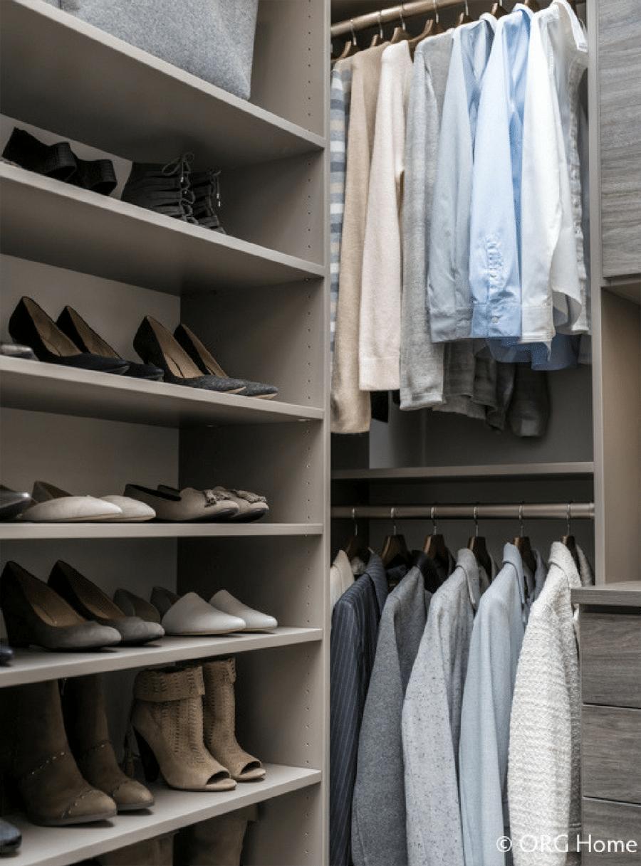 Do #1 Walk in Closet with Double Hung Columbus | Innovate Home Org | #CustomOrganization #Storage #WalkInCloset
