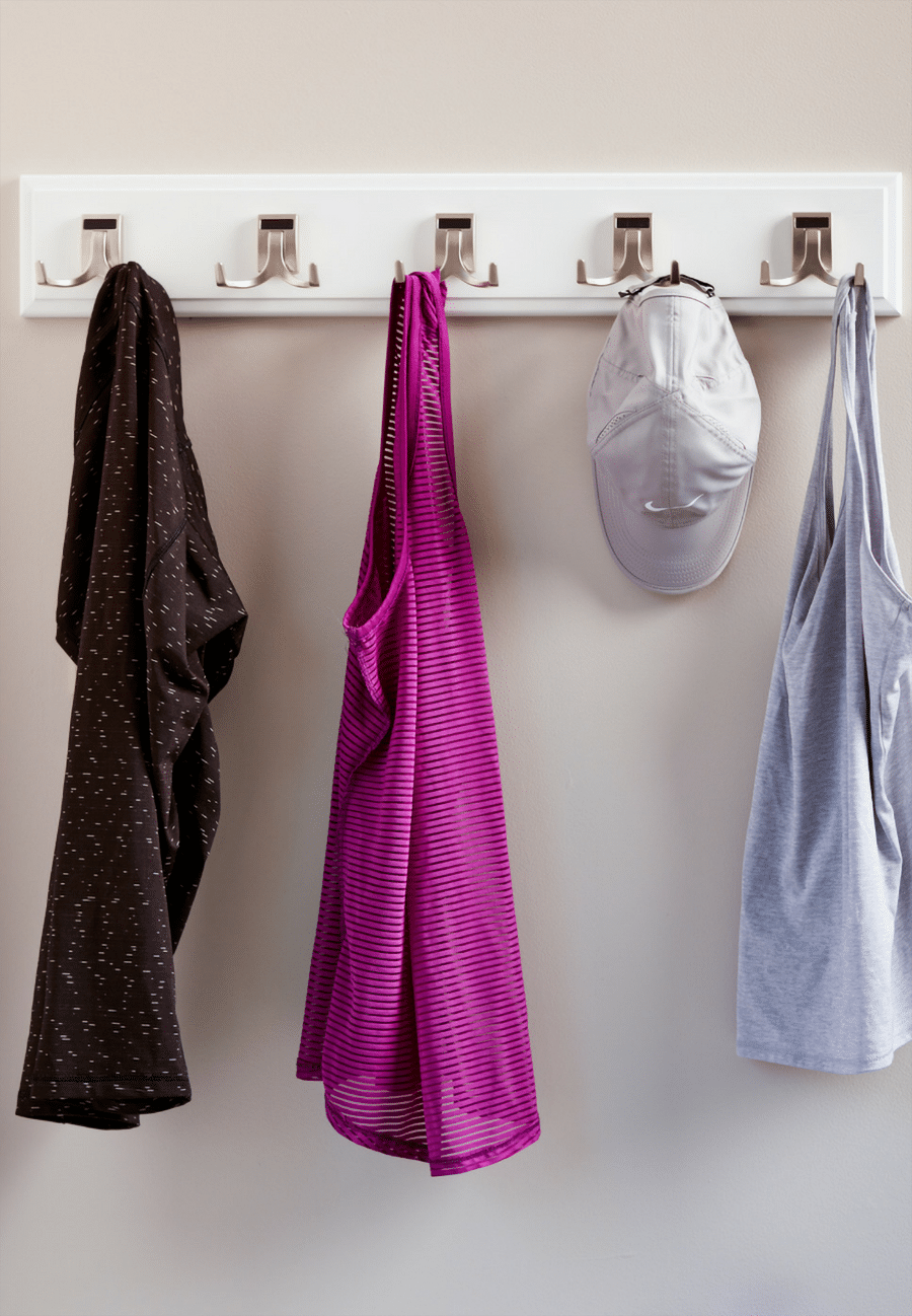 Do #14 hooks behind in swing closet doors | Innovate Home Org #Organization #StorageSolutions #Hooks