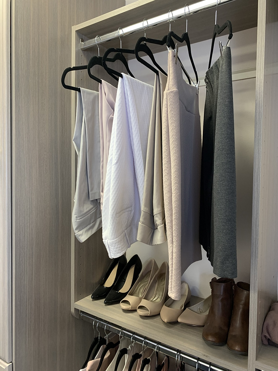 Don't #4 pants on the top and shirts on the bottom better double hung storage columbus | Innovate Home org | #Organization #Storage #Closet #DoubleHung