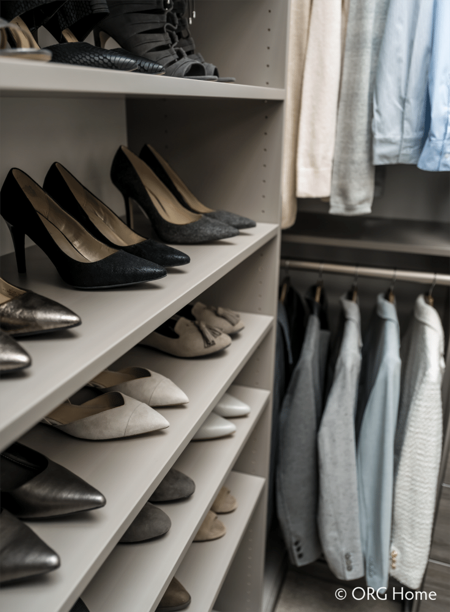 Don't #6 long adjustable shoes shelves more storage than cubbies columbus | Innovate Home Org | AdjustableShoes #ShoeShelving #CustomCloset