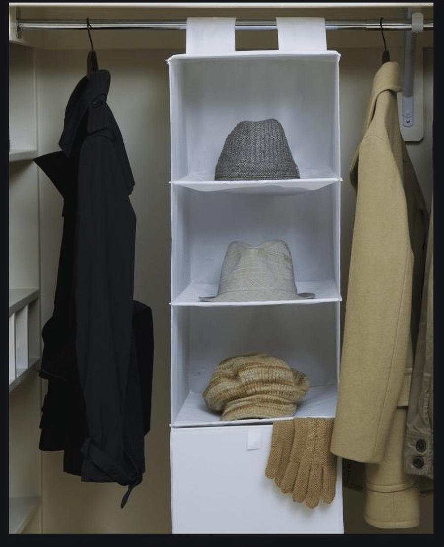 Feature 9 hanging cloth closet shelves credit www.womensday.com | Innovate Home Org | #OrganizationSystems #StorageSystem #HangingClothes #OrganizationSystems