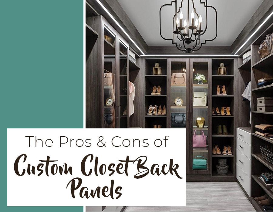 Opening - pros cons of custom closet back panels Closet Envy credit Organizers Direct Custom Closet | Innovate Home Org | #ClosetSystem #Organization #CustomCloset