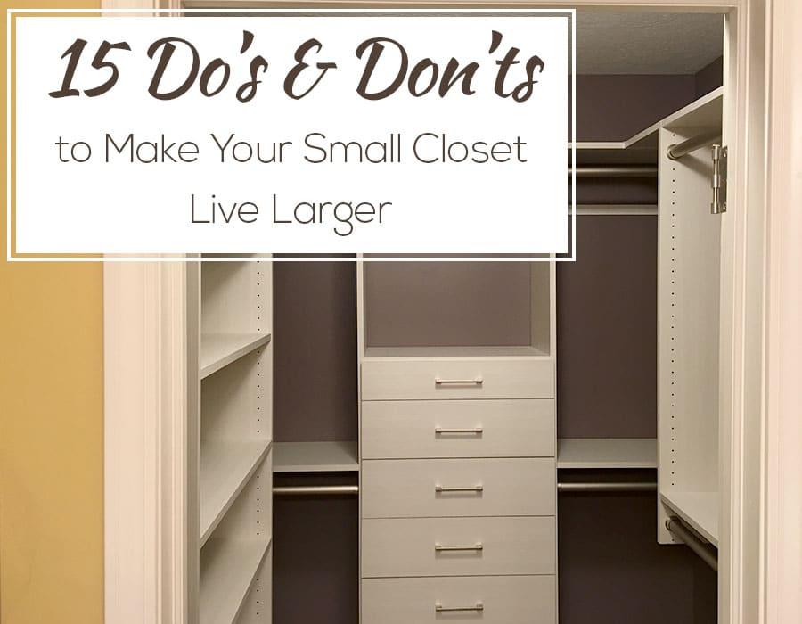 Opening small cramped closet design columbus ohio | Innovate Home Org | #ClosetDesign #smallcloset #WalkInCloset