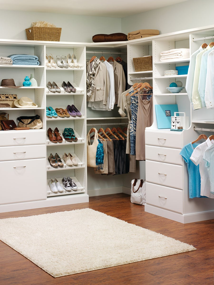 Mistake 1 combine wall hung and floor based custom closet sections Columbus ohio   Innovate Home Org #CustomStorage #WallHung #DoubleHung