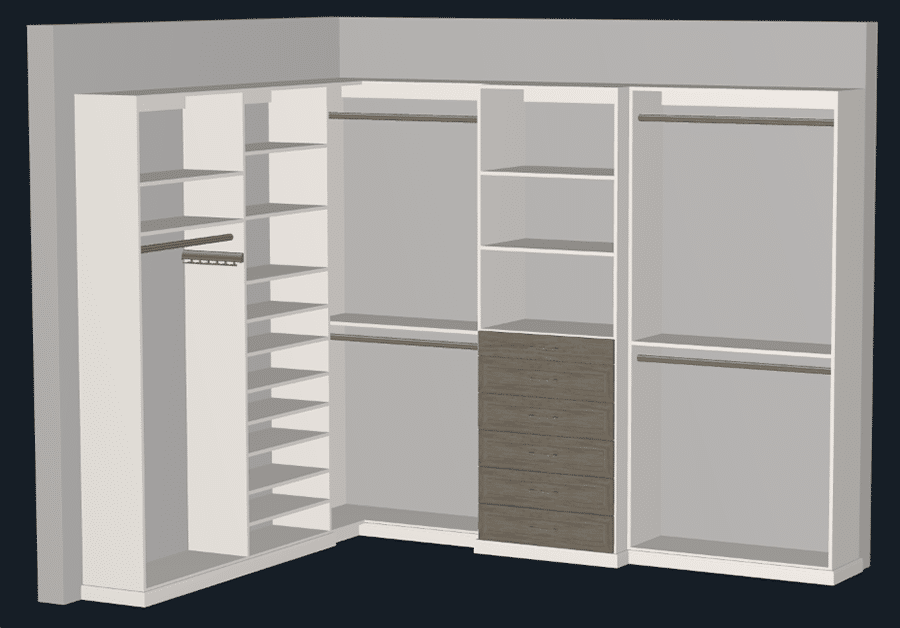 Mistake 4 A 3D Columbus Custom Closet Design Drawers in a Contrasting Color Innovate Home Org   Innovate Home Org #CustomStorage #Organization #drawerdesign